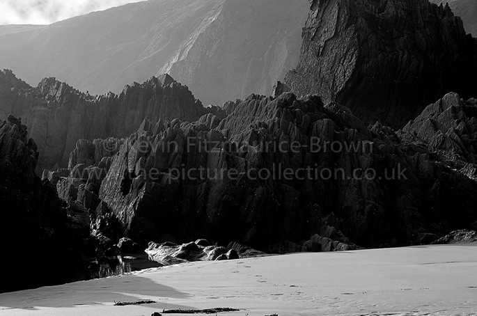 GEOLOGY on Marloes Sands beach Pembrokeshire Wales UK