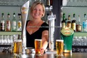 Attractive girl behind bar Gibraltar. Commercial photographer Algarve