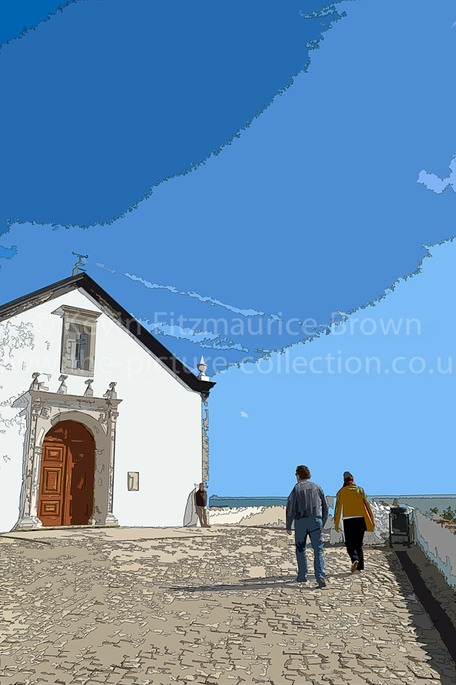 Church at Cacela Velha. Castle town East Algarve