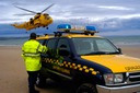Coastguard rescue with RAF helicopter