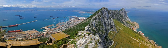 PANORAMA OF GIBRALTAR FROM THE TOP OF THE ROCK