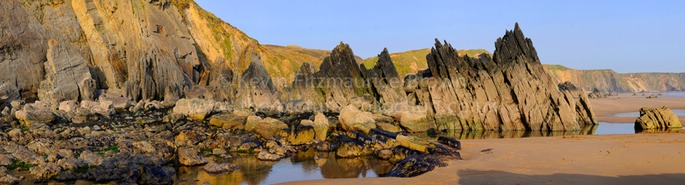 ROCK FORMATIONS, MARLOES SANDS, WALES