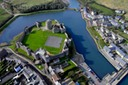 PEMBROKESHIRE PHOTOGRAPHER PEMBROKE CASTLE FROM THE AIR