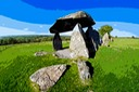 PENTRE IFAN NEOLITHIC BURIAL STONES PEMBROKESHIRE, WALES