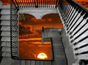 SURREAL STAIRS TO SUNSET BELOW