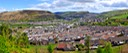 TREHERBERT AND TREORCHY  PANORAMIC WALES, UK.